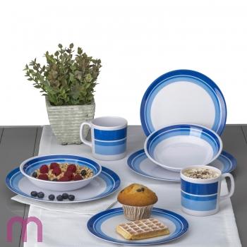 Campinggeschirr Picknickgeschirr Melamin Geschirr Set Melamingeschirr 8 tlg. blau