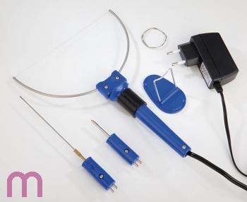 Styropor Schneidegerät Styroporschneider Schneider Set Schneidedraht mit 3 Aufsätzen 6V / 9 Watt