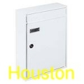Briefkasten Briefkastenanlage weiß Houston