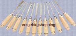 Schnitzgarnitur Schnitzeisen  Bildhauerbeitel Schnitzmesser 12 t