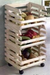 Obsthorde Kartoffelhorde Kartoffelkiste aus massivem Holz