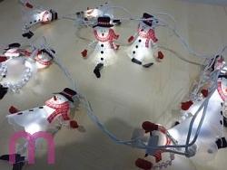 LED Lichterkette Schneemann Weihnachtsbeleuchtung 230 V Innen
