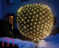 Lichternetz Partyzelt Beleuchtung 160-er 2 m x 1,20 m warmweiß Außen gr.Kabel